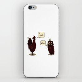 Avian Discourse iPhone Skin