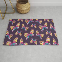 Butterfly Pattern Cute Animal Birthday Gift Rug