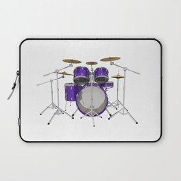 Purple Drum Kit Laptop Sleeve