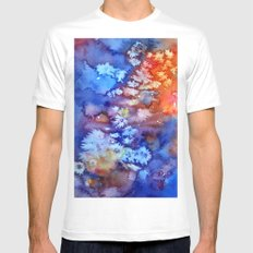Abstract Mens Fitted Tee MEDIUM White