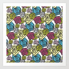 Bold roses Art Print