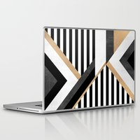 stripe Laptop & iPad Skins featuring Stripe Combination by Elisabeth Fredriksson