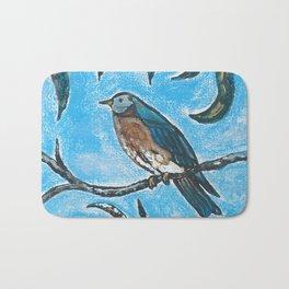 Bird on a branch Bath Mat