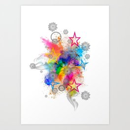 Color blobs by Nico Bielow Art Print