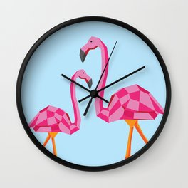 Disco Flamingo Wall Clock