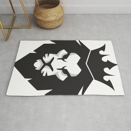 Black & White lion x Crown Rug