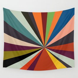 stripes rays geometric retro Wall Tapestry