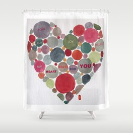 VALENTINE, my heart beats for you Shower Curtain