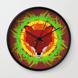 Summer Fox Wall Clock