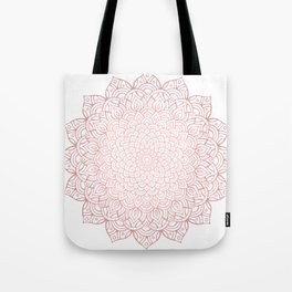 Earthy Rose Gold Blush - Unfolding Mandala Tote Bag