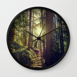 Hidden trail Wall Clock