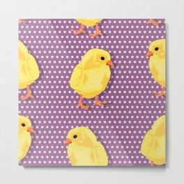 Chiken pattern Metal Print