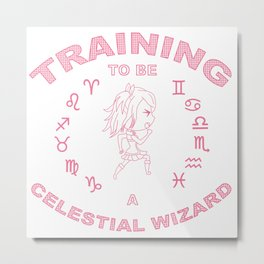 Training to be a Celestial Wizard  Metal Print