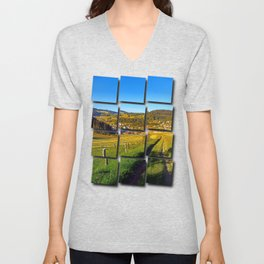 Path down to the village Unisex V-Neck
