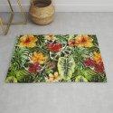 Tropical Vintage Exotic Jungle Flower Flowers - Floral watercolor pattern by originalaufnahme