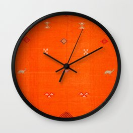 Traditional Anthropologie Moroccan orange Artwork. Art Print Wall Clock