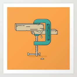 Clamp stamp Art Print