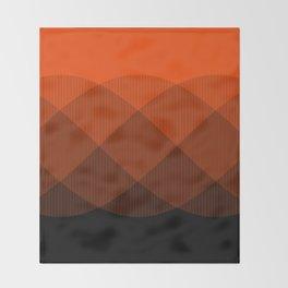 Orange to Black Ombre Signal Throw Blanket