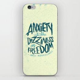 Kierkegaard on Anxiety iPhone Skin