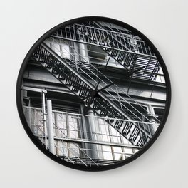 New York -Manhatten - Stairs #227-2 Wall Clock