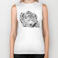 leopard Biker Tanks featuring Leopard  by Karen Hischak