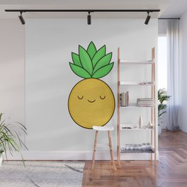 Happy Pineapple Wall Mural