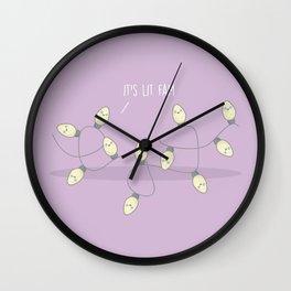 It's Lit Fam #kawaii #christmas Wall Clock
