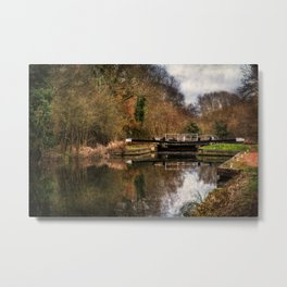 Above Sulhamstead Lock On The K&A Metal Print