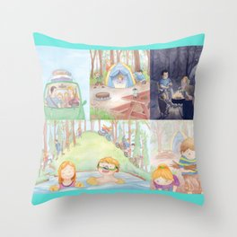 Our Camping Trip Throw Pillow