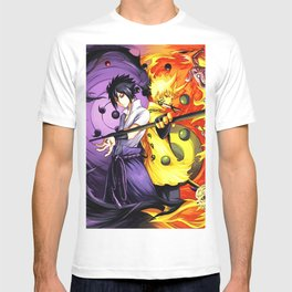 sasuke and naruto T-shirt