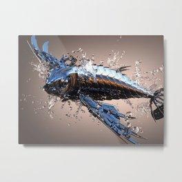 3D Model Metal Fish Metal Print