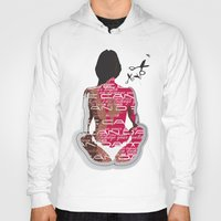 health Hoodies featuring Love can damage your health by Sedef Uzer
