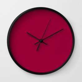 Pink Raspberry - solid color Wall Clock