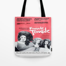 Vintage Female Trouble Movie Poster Tote Bag