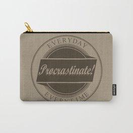 Procrastinate vintage logo Carry-All Pouch