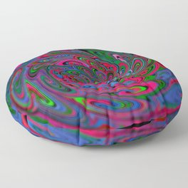 Trippy Swirl Floor Pillow