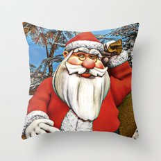 Santa Gifts Throw Pillow