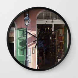 New Orleans Lampost on Royal Wall Clock