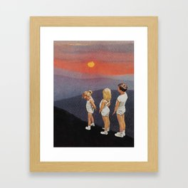 just kids Framed Art Print