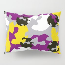 Purple and ochre camouflage Pillow Sham