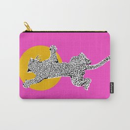 Big Cat Plays Ball with the Sun | Pink Carry-All Pouch