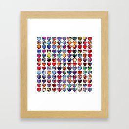 Painted Hearts Framed Art Print