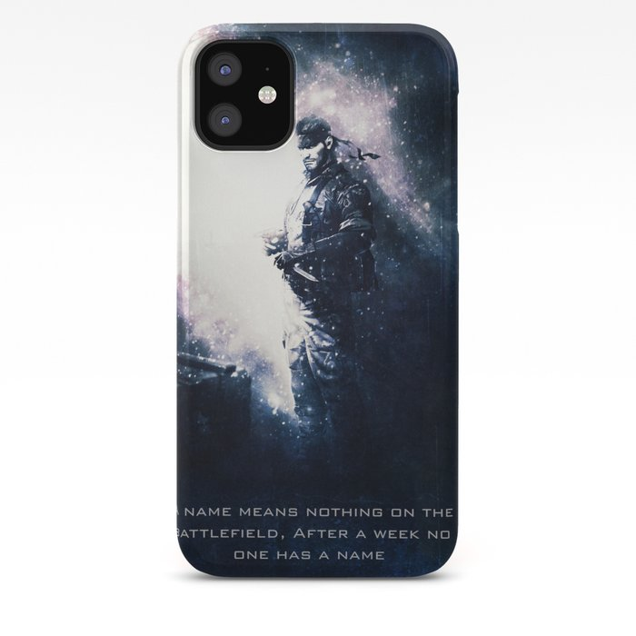 solid snake metal gear solid iphone case
