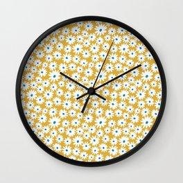 Daisies - Spring - Yellow Wall Clock