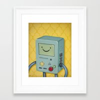 bmo Framed Art Prints featuring BMO by HeatherAckley