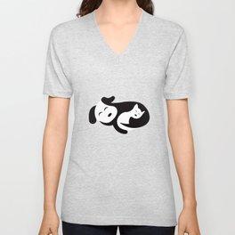 Cat and Dog Ying-Yang Unisex V-Neck