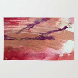 Blushing [4]: a vibrant, minimal abstract in pink, red, and purple Rug