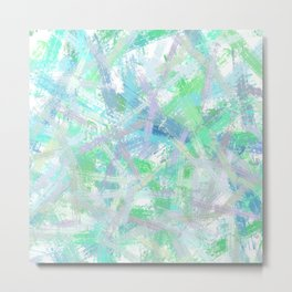 Abstract brush strokes texture Metal Print
