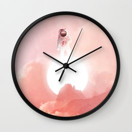 Astronaut Far From Earth-Space Adventure Wall Clock