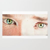 benedict Area & Throw Rugs featuring Benedict Cumberbatch eyes by Cécile Pellerin